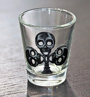 Haunted Casinos Shot Glass, (Clubs)